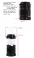 6led Foldable Rechargeable Solar Camping Lights Camping Lanterns